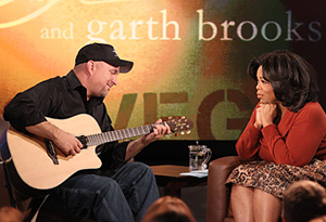 Garth Brooks and Oprah