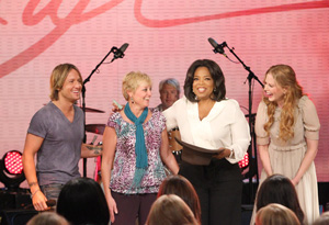 Keith Urban, Michelle Brian, Oprah and Nicole Kidman