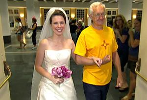 Kathryn in her Reem Acra wedding gown.