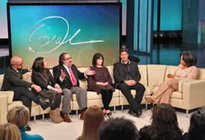 The Cascio family and Oprah