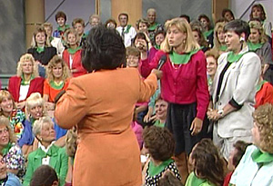 A discrimination experiment in the Oprah Show studio