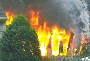 Petit house fire damage