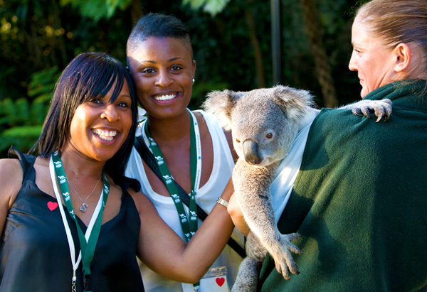 Oprah's Ultimate Viewers meet the 'locals' at the Taronga Zoo in Australia.