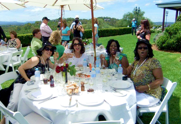 Oprah's Ultimate Viewers enjoy a wine tasting lunch at Audrey Wilkinson Wines.