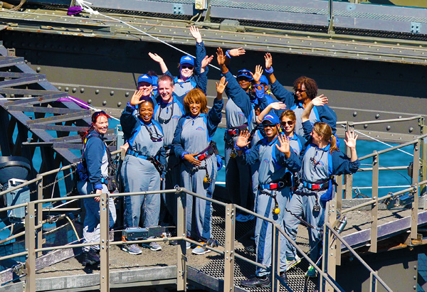 Oprah, Gayle and Ultimate Viewers on the Sydney Harbour Bridge