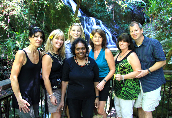 Oprah's Ultimate Viewers at the Wawu-karrba waterfall.