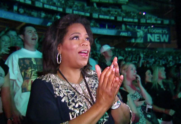 Oprah at her first U2 concert in Australia
