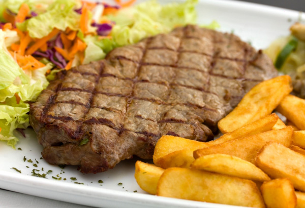 Steak and chips - Australian food