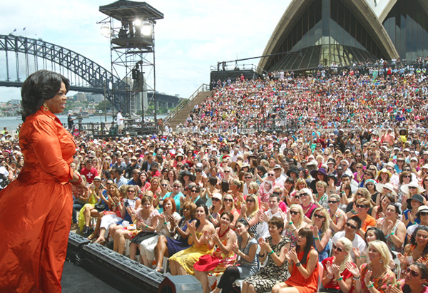 Oprah at the Sydney Opera House