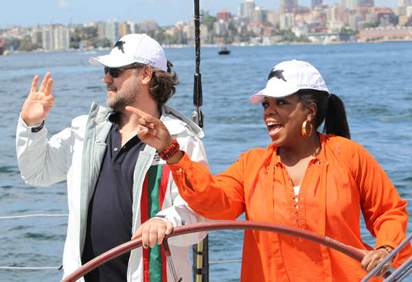 Oprah and Russell Crowe