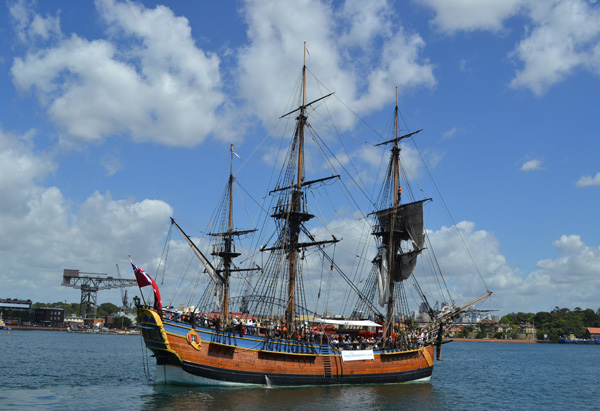 Replica of Captain Cook's ship