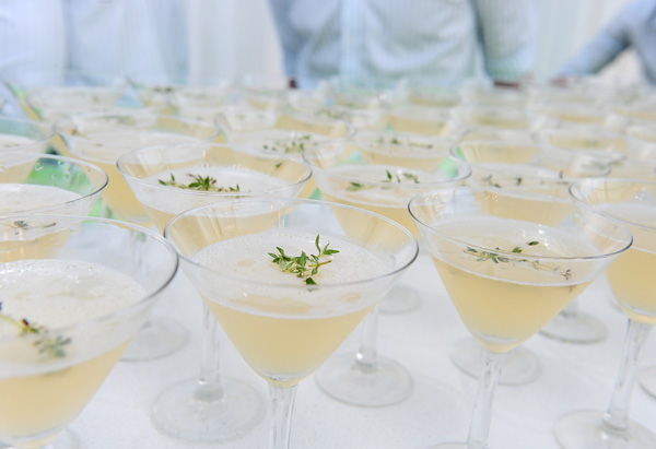 Apple and thyme martinis