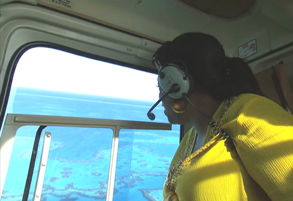 Oprah in a helicopter