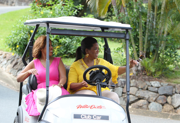 Oprah and Gayle visit Hamilton Island