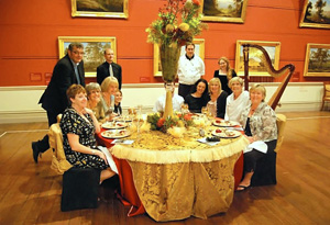 Oprah's Ultimate Viewers eat dinner at the Tasmanian Museum and Art Gallery
