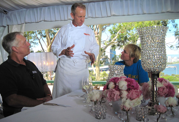 LeWayne, Michelle and chef Chris Taylor