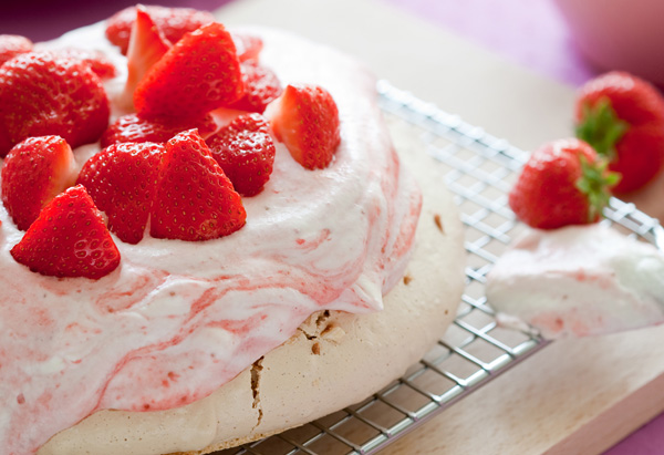 Aussie Pavlova with Strawberries