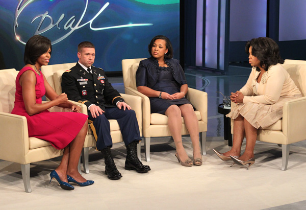 Michelle Obama, military family and Oprah