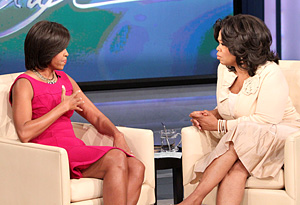 First Lady Obama and Oprah