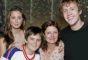 Susan Sarandon and her family