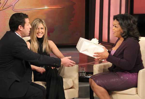 Adam Sandler, Jennifer Aniston and Oprah
