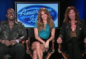 Randy Jackson, Jennifer Lopez and Steven Tyler