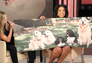 Jennifer Aniston gives Oprah a birthday present