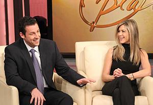 Adam Sandler and Jennifer Aniston