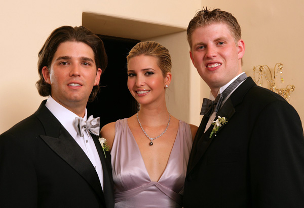 Donald Jr., Ivanka and Eric Trump