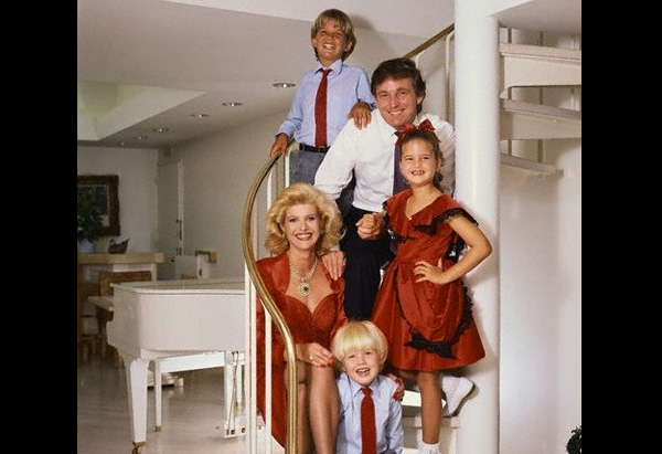 Donald, Ivana, Ivanka, Eric and Donald Jr. Trump