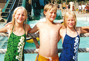 Twins Kellie and Kathie Henderson with their brother and abuser