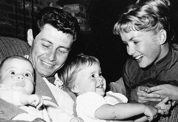 Eddie Fisher, Debbie Reynolds, and Todd and Carrie Fisher