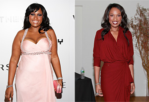 Jennifer Hudson before and after her dramatic weight loss