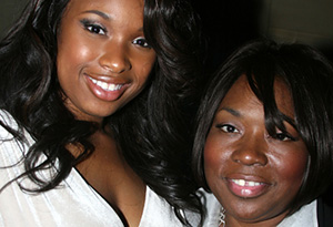 Jennifer Hudson with her mom in 2006