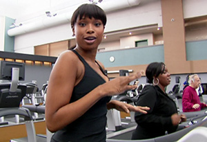 Jennifer Hudson working out