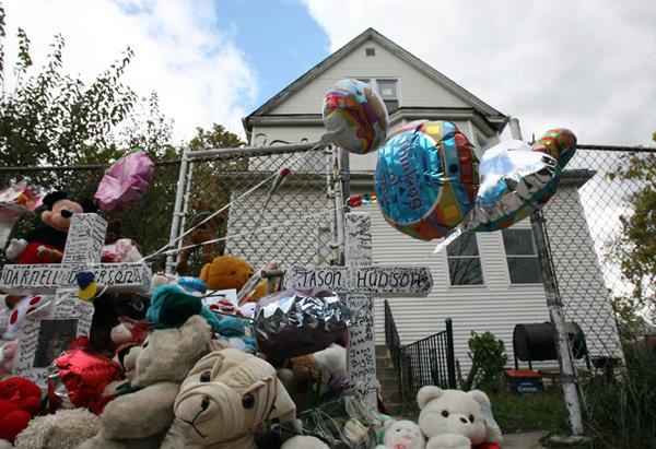 The house of Jennifer Hudson's mother on October 27, 2008