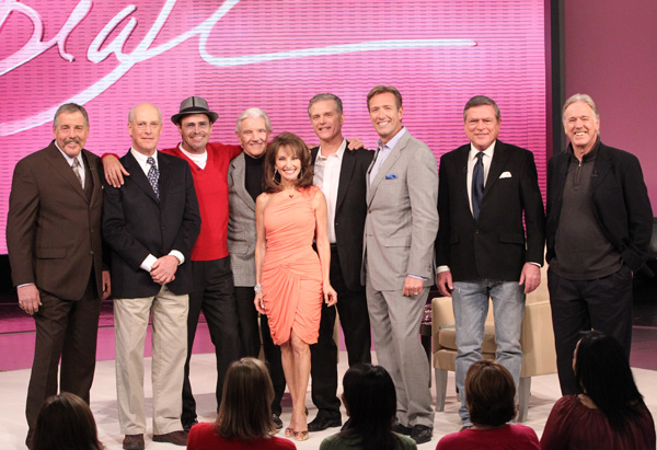 Susan Lucci and the men from All My Children