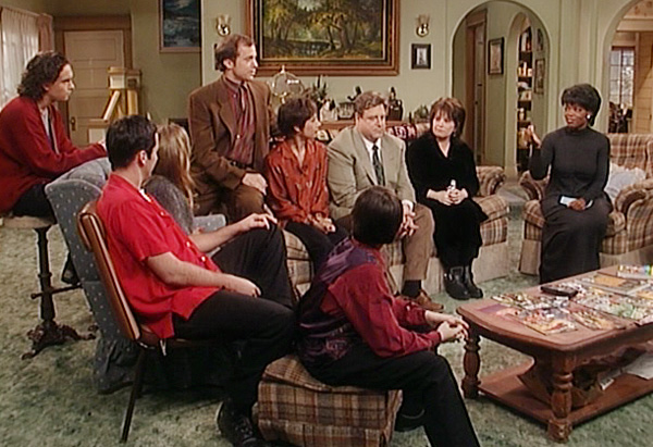 Oprah and the cast of Roseanne
