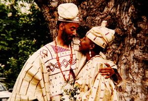 Iyanla Vanzant and her husband, Yemi