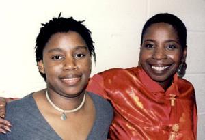 Iyanla Vanzant and her daughter, Gemmia