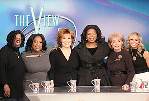 Oprah and the cast of The View