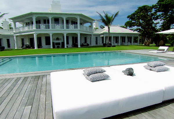 Celine Dion's House Tour - The Pool - Oprah.