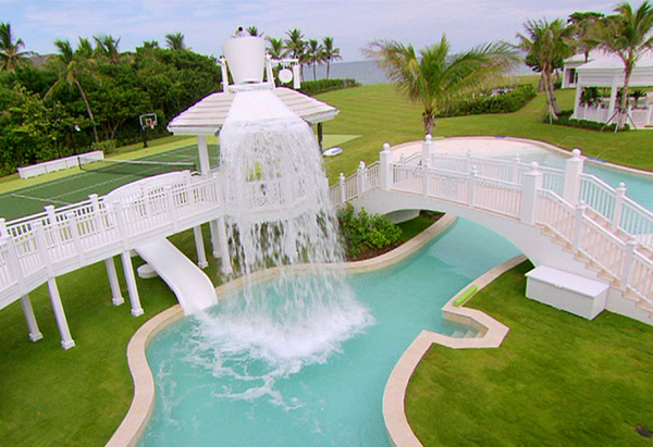 Waterfall And Pool At Celine Dion S House
