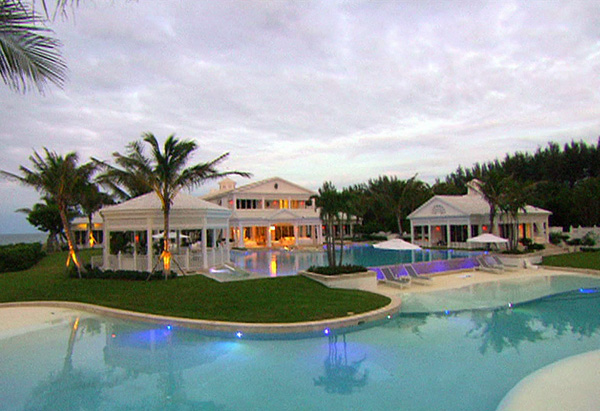 Pool on Celine Dion's property