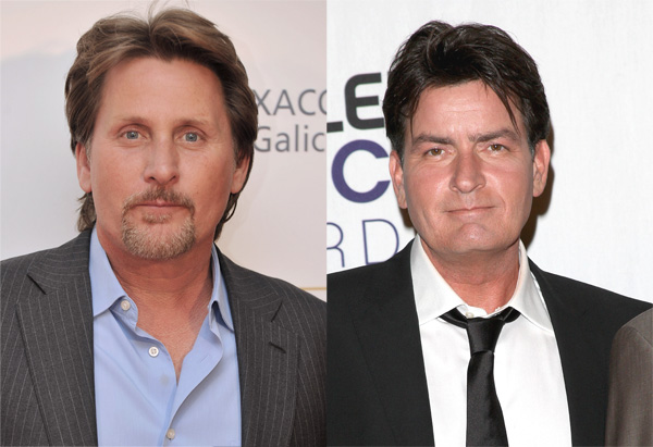 Emilio Estevez and Charlie Sheen