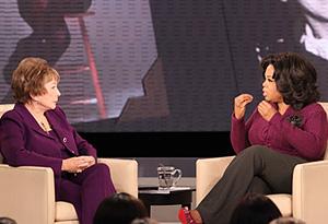 Shirley MacLaine and Oprah