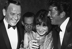 Shirley MacLaine, Frank Sinatra and Dean Martin in 1965