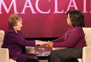 Shirley MacLaine and Oprah Winfrey