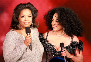 Diana Ross and Oprah