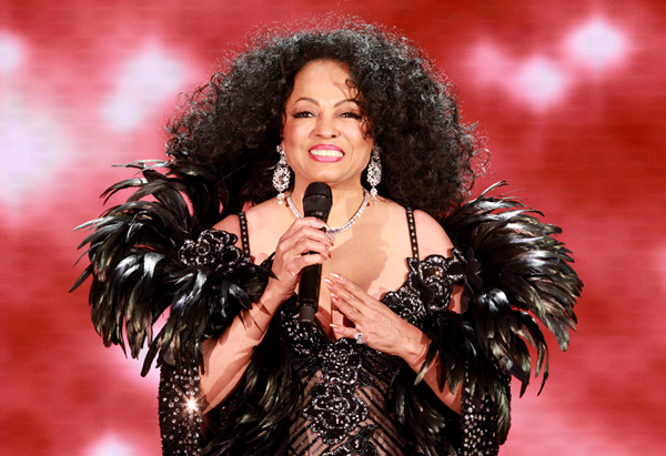 Diana Ross on the Oprah Show in February of 2011